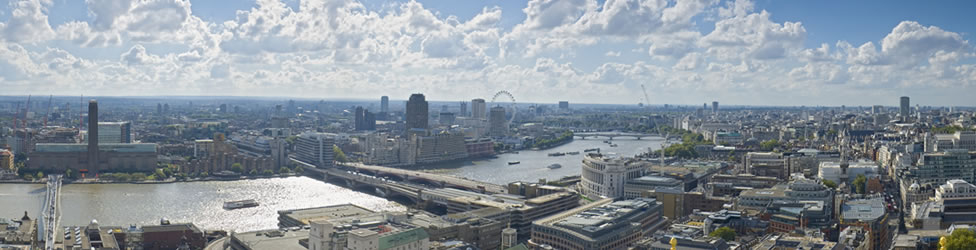 Panoramic view of London property